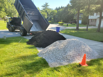 Mulch Stone Split Load Delivery Maryland